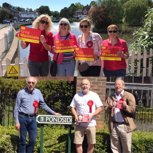 campaigning in Lindfield and Bolnore